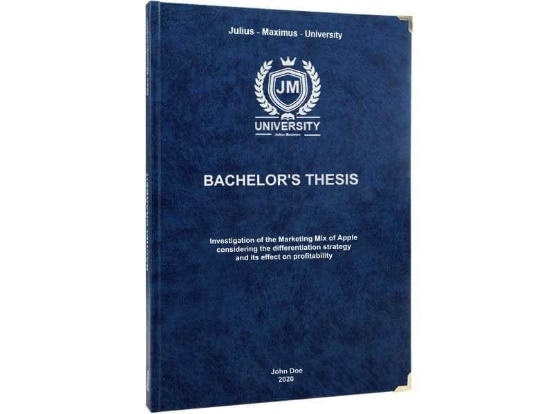 Premium leather binding dark blue upright