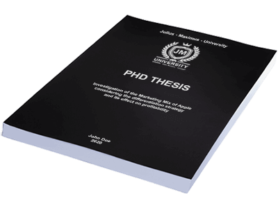 PHD Thesis printing binding softcover black