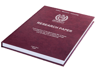 Research Paper leather binding red silver