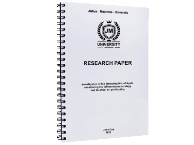Research Paper spiral binding metal black
