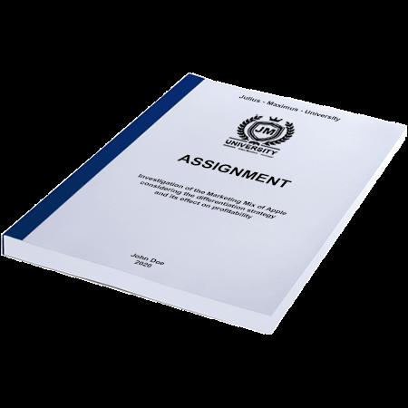 assignment printing binding thermal binding blue