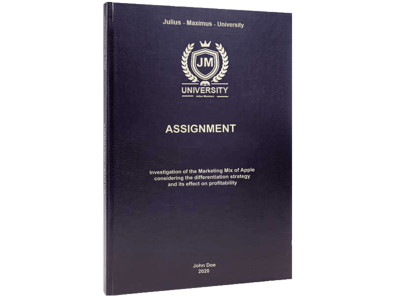 assignment printing black leather binding standard