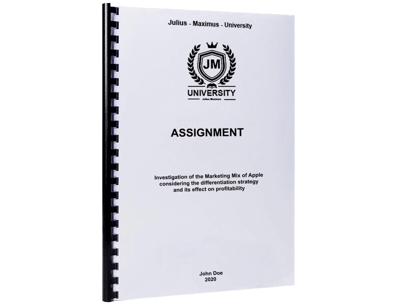 assignment printing spiral binding plastic