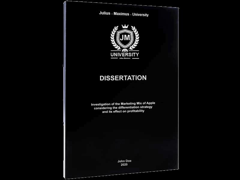 dissertation binding softcover black