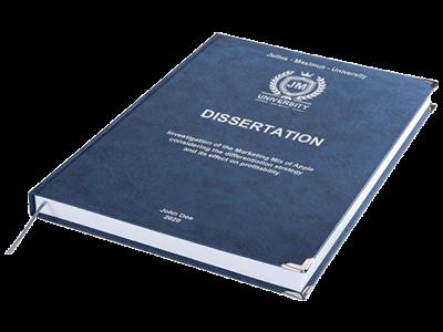 dissertation printing binding leather binding blue silver