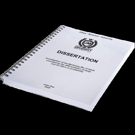 dissertation printing binding metal spiral binding