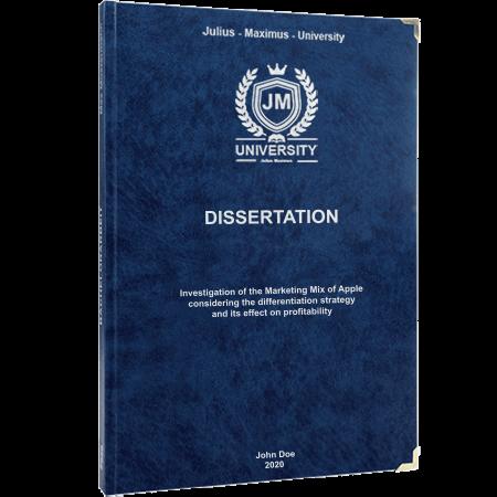 dissertation printing binding premium leather blue