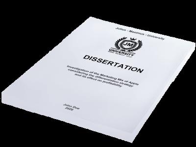 dissertation printing binding softcover white