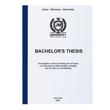 thesis binding thermal blue front