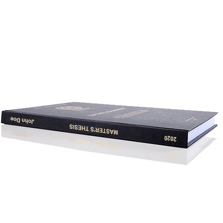 thesis standard binding black spine