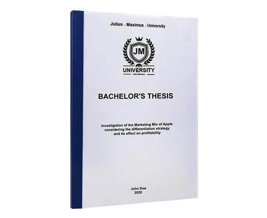 Print time for Bachelor's thesis printing and binning with thermal binding