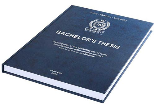 Printing costs for Bachelor's thesis Leather binding with embossing