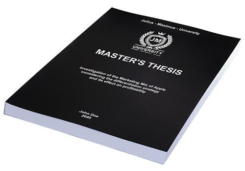 Printing costs for Master's theses Thermal binding