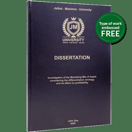 dissertation printing binding leather binding black standard