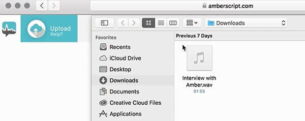 how to transcripe an interview file upload