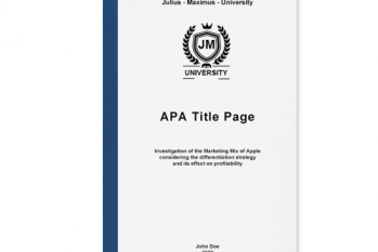 apa title page academic writing