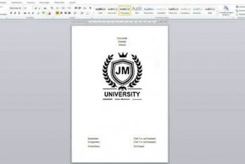 title page academic writing
