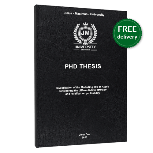 PhD printing standard leather book binding free delivery