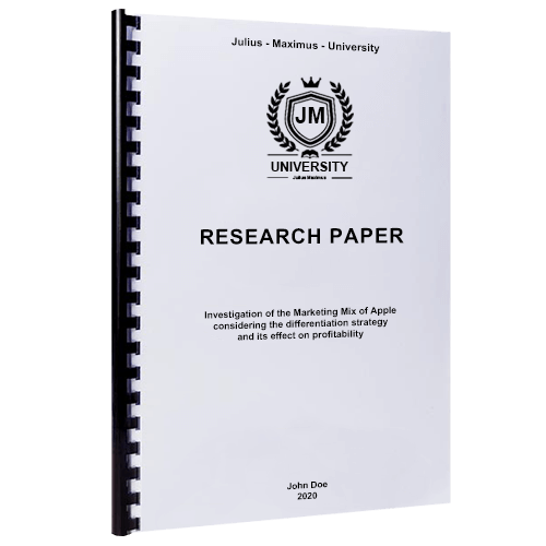 Plastic spiral binding for research paper