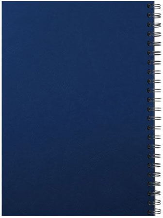 Spiral binding back blue