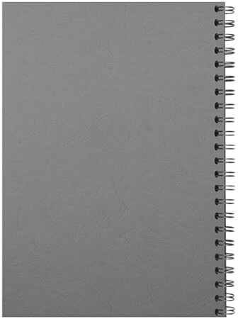 Spiral binding back grey
