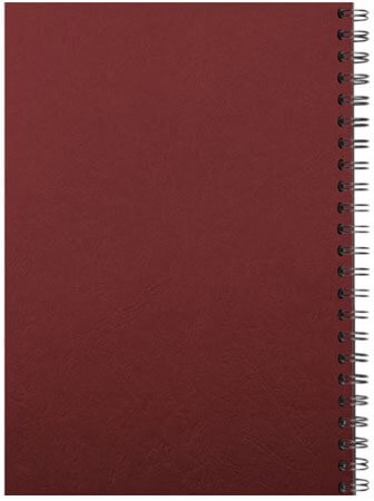 Spiral binding back red