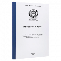 how to write a research paper printing & binding