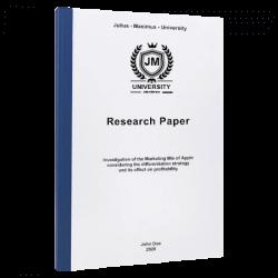 research proposal sample paper printing binding