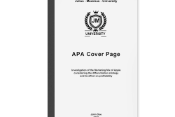 dissertation proposal apa cover page