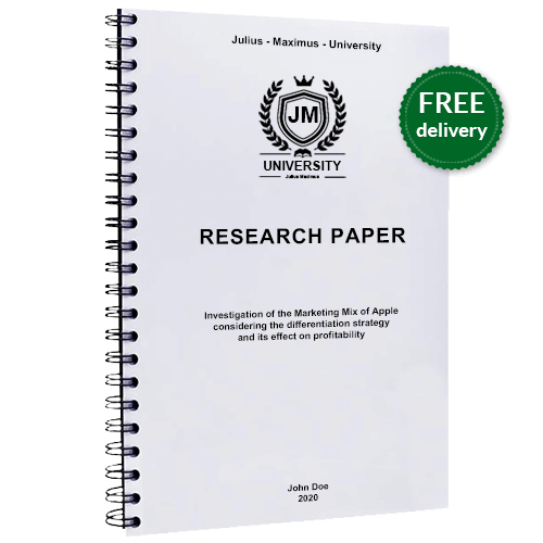 Comb binding for research paper