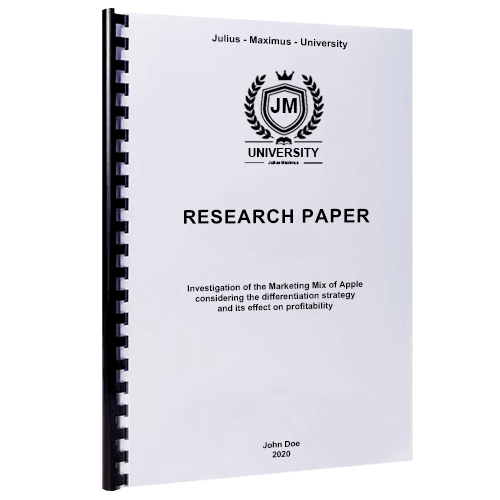 Plastic comb binding for research paper