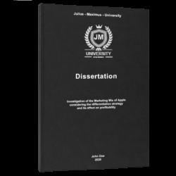 survey research dissertation printing & binding