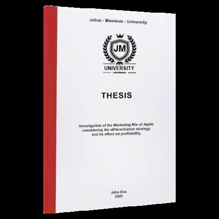 thesis binding Paris