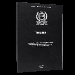 Benchmarking thesis printing