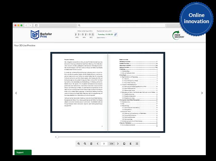 Look inside function of the online print shop Yerevan