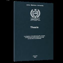 SMART goals thesis printing & binding
