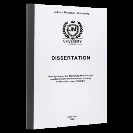 dissertation binding Athens
