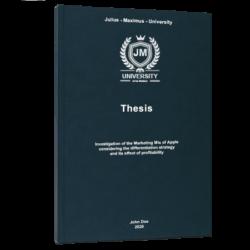 Confused Words thesis printing & binding